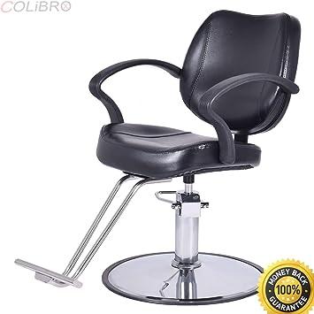 COLIBROX  Hydraulic Barber Chair Salon Beauty Shampoo Hair Styling W  Rectangle Floor Mat.