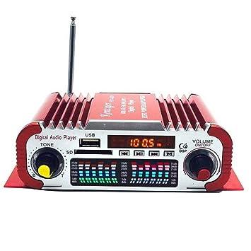 Mengonee USB HY601 FM Digital de Audio 12V LED Modo de Sonido estéreo de automóvil Amplificador