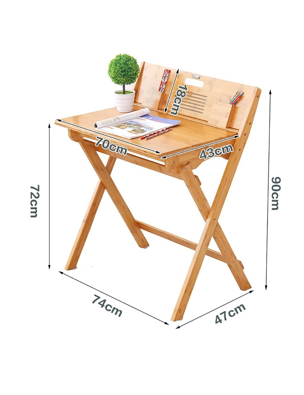 Moderne Einfache Freizeit Tisch Learning-Schreibtisch-beweglicher Schreibtisch Klapptisch Bambus-Material