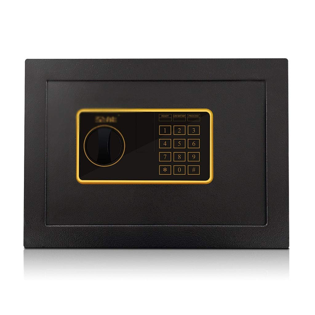 Safes/Wall Safes Safe All Steel Anti-Theft Mini Office Wall-Mounted Safe Deposit Box Rectangular Password to Open Anti-mite (Color : Black, Size : 353025cm)