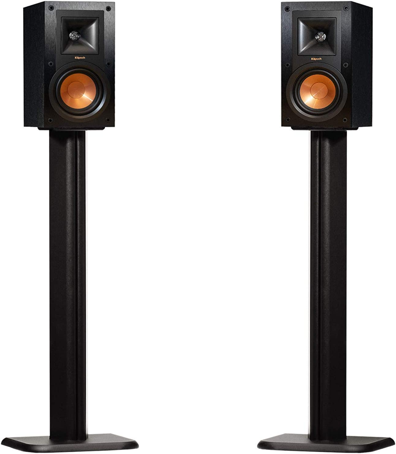 ECHOGEAR Bookshelf Speaker Stand Pair - Heavy Duty MDF Energy-Absorbing Design - Works with Klipsch