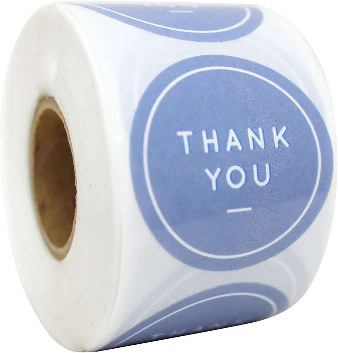 Amazon Com Paperlily Thank You Stickers 1 5 500 Grey Gray Labels Per Roll Office Products
