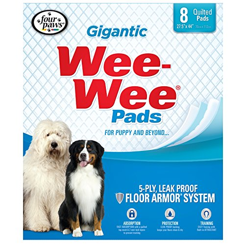 Four Paws Wee-Wee Gigantic Puppy Pads, 8 Ct