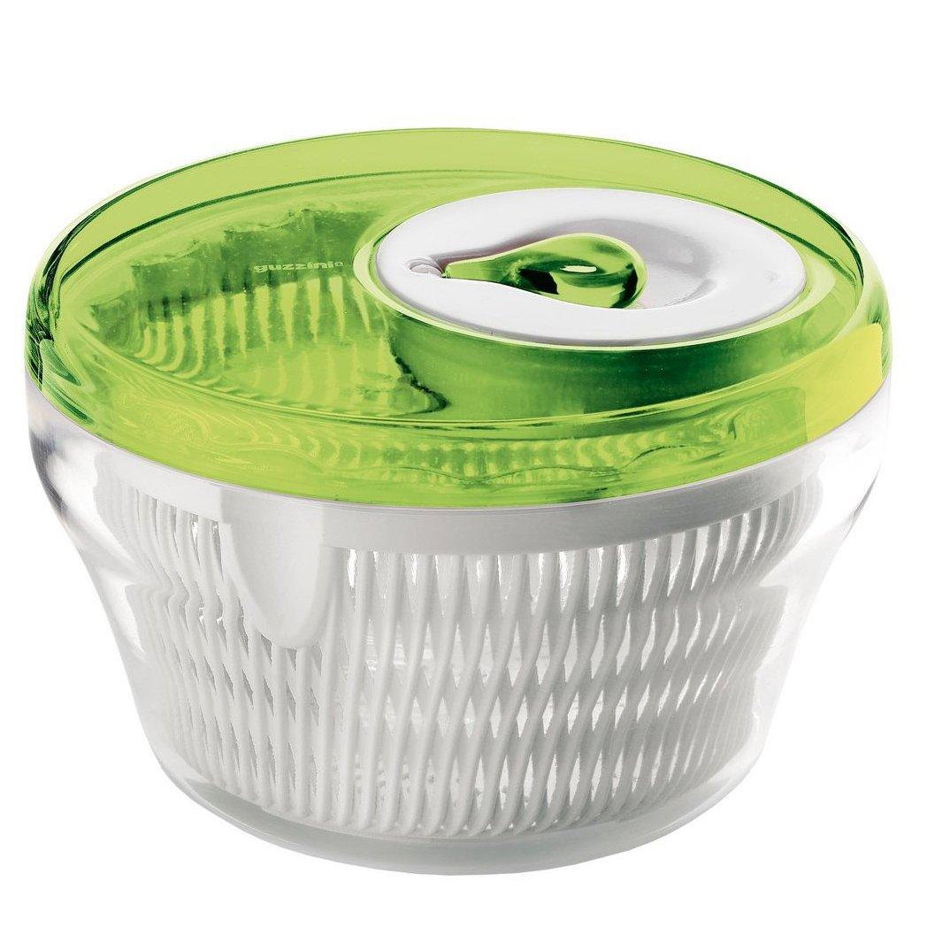 Guzzini Gourmet Salad Spinner Transparent Green 11in
