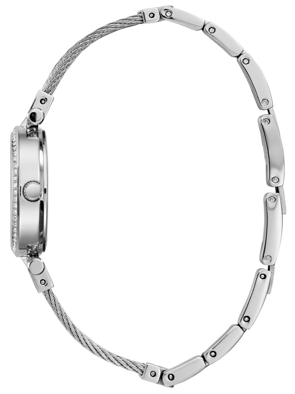 GUESS-Womens-Stainless-Steel-Casual-Wire-Bangle-Bracelet-Watch