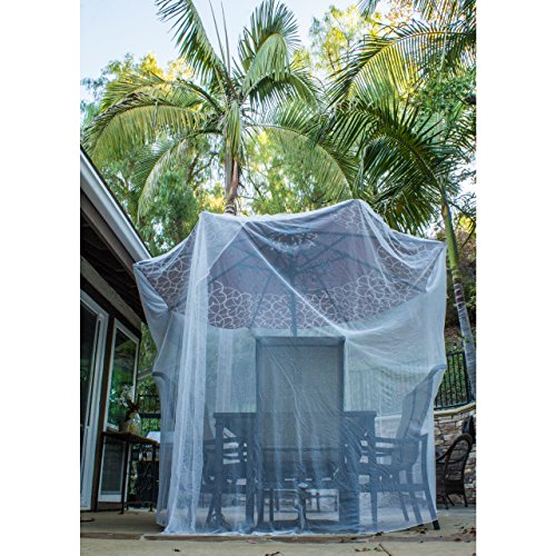 Ultra Large Mosquito Net and Insect Repellent by MEKKAPRO   Large Two Openings Netting Curtains   Prevent Malaria Zika West Nile Viruses   Camping, Bedding, Patio   Carrying Pouch and Hanging Kit