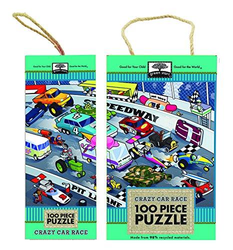 Innovative Kids Green Start 100-Piece Puzzle: Crazy Car Race Puzzle
