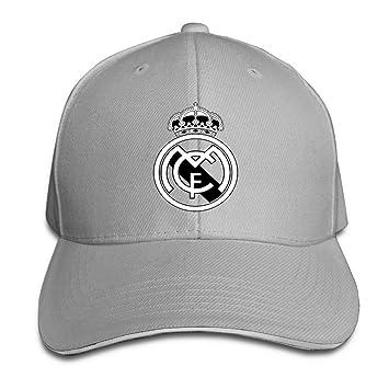 f498427d213e3 hittings Real Madrid C.F. Logo Football Club Adjustable Sandwich Gorra de  béisbol Ash