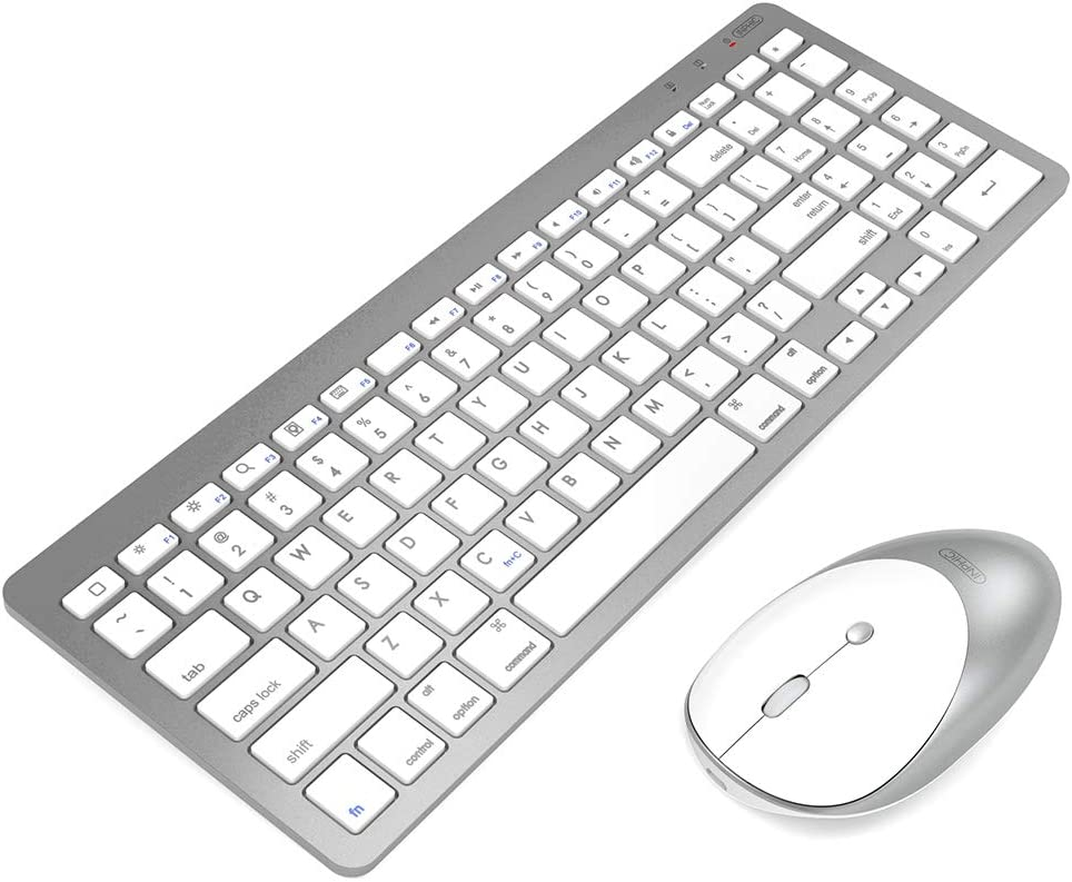 Amazon Com Inphic Ultra Slim Wireless Bluetooth Keyboard Mouse Combo Compatible With Ipad 10 2 9 7 Ipad Air 10 5 Ipad Pro 11 12 9 Ipad Mini 5 4 Iphone And Other Bluetooth Enabled Devices White Computers Accessories