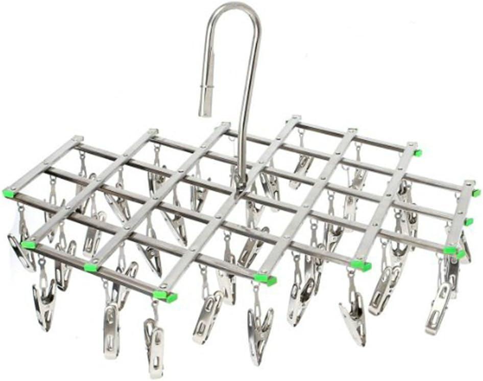 acciaio INOX 20 clip stendino sciarpe Smart Hook design evitare Blowing away biancheria intima asciugatura pioli per calzini attaccapanni salvaspazio asciugamani