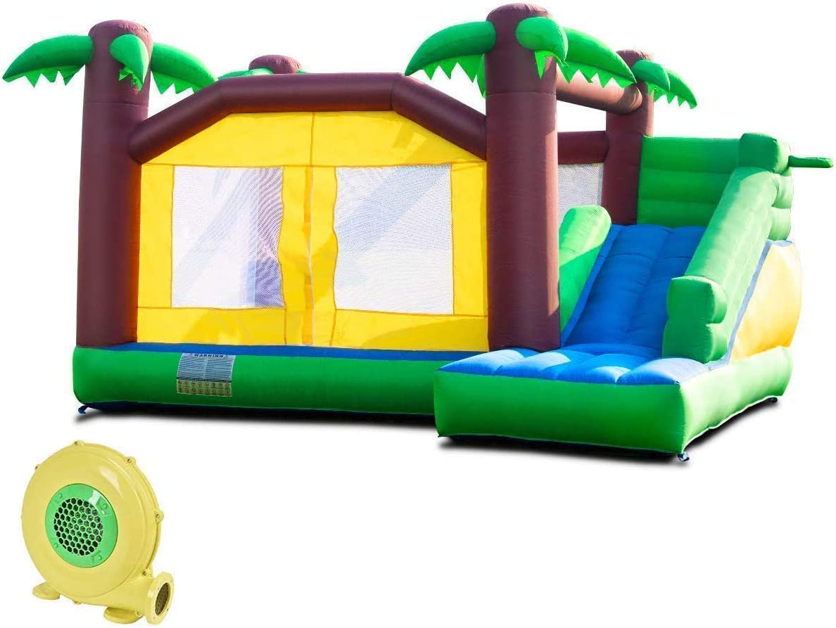 Amazon Com Costzon Inflatable Bounce House Jungle Jump And Slide