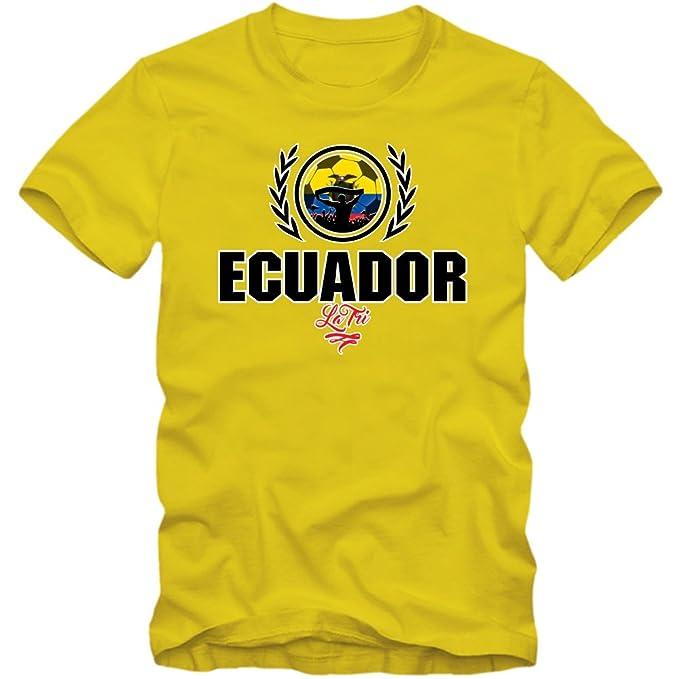 Shirt Happenz Fútbol Ecuador V2 Camiseta | Hombre | Fútbol | La Tri | Jersey | Equipo Nacional: Amazon.es: Ropa y accesorios