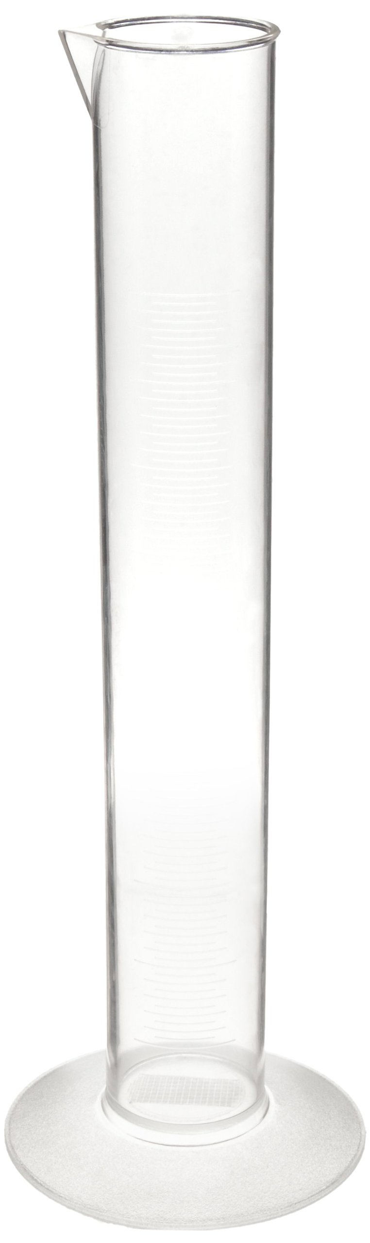 Nalgene 3665-0500 Polymethylpentene Economy Graduated Cylinder, 500mL Capacity