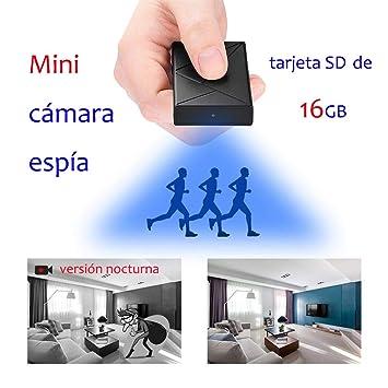 OMOUP Cámara Espía Oculta 16GB 1080P HD Portátil Cámara de Seguridad Espía Mini Cámara Espía con Detectores de Movimiento de Visión Nocturna: Amazon.es: ...