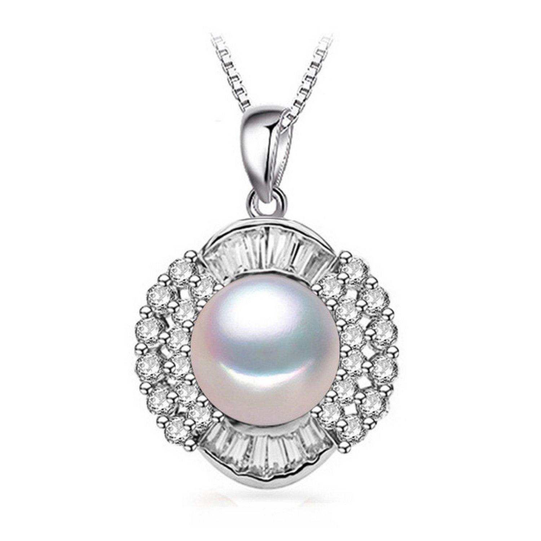 CS-DB Jewelry Silver Pearl Retro Chain Charm Pendants Necklaces