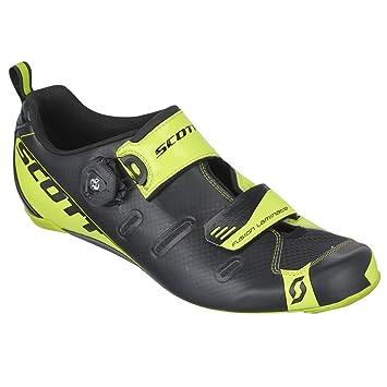 Scott Tri Carbon Triathlon Bicicleta Guantes Negro/Amarillo 2018, Hombre, Negro y Amarillo neón, 46: Amazon.es: Deportes y aire libre