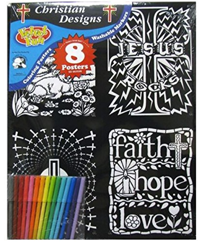 Craft Gods Eye (Velvet Fun Coloring Art 8 Pack with Markers ~ Christian Designs (Symbolic Squares, New Life in Christ, God is Awesome, Follow the Son, Jesus Rocks, Faith Hope Love, Lion and the Lamb, Geo Faith))