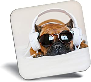 Destination Vinyl ltd Awesome Fridge Magnet - Funny DJ Puppy Dog Headphones 24507