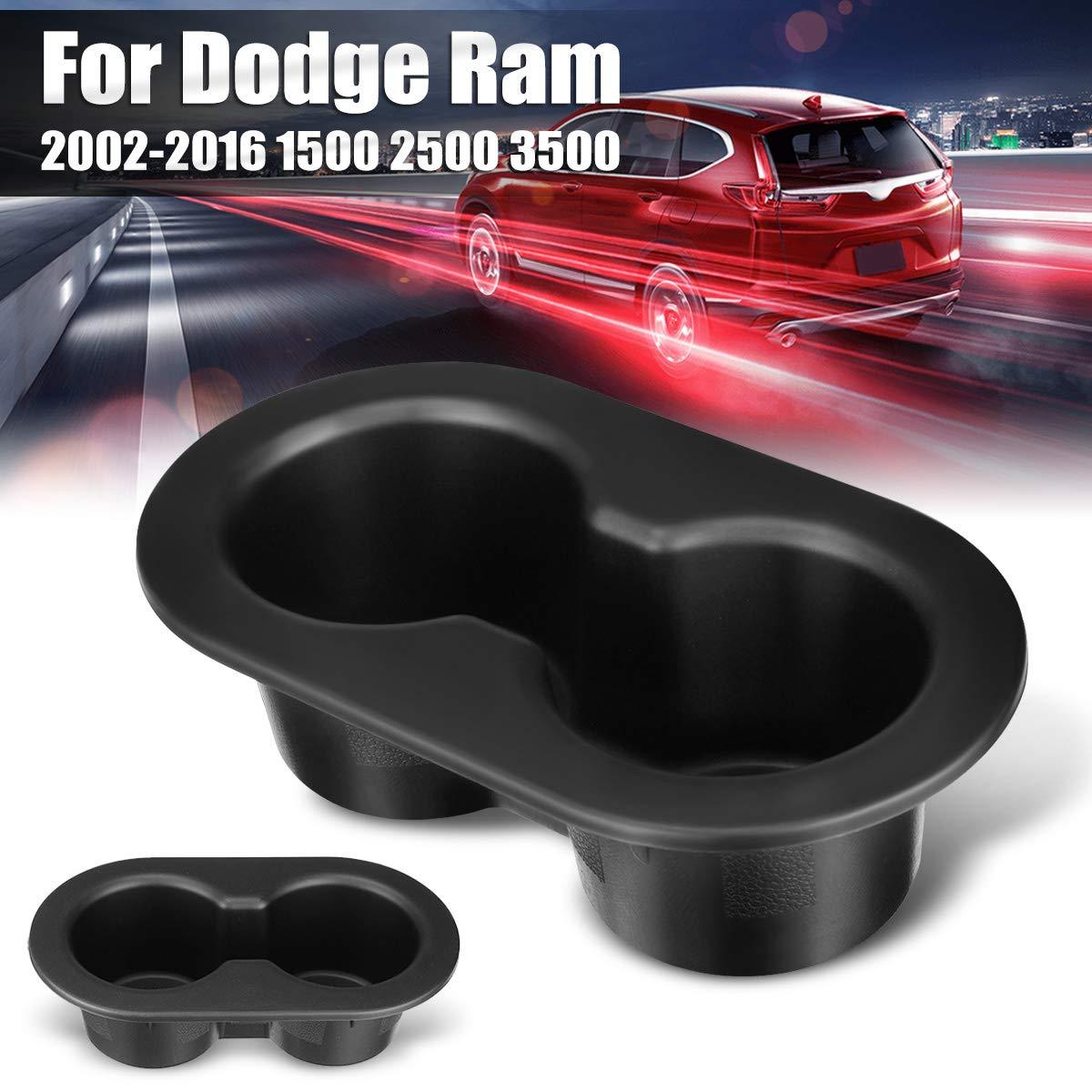 Rear Seat Storage Cup holder for Dodge Ram 2002-2016 1500 2500 3500 Black