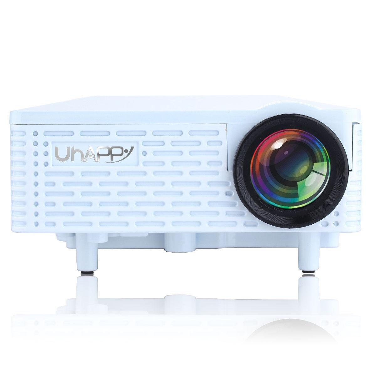 UHAPPY Mini portable projector can be used for iphone/ipad , white