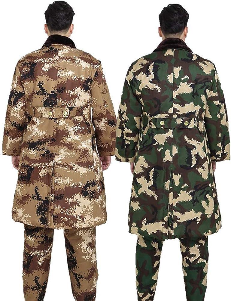 Oversize Coat//Pants KINDOYO Men Camouflage Jacket//Trousers