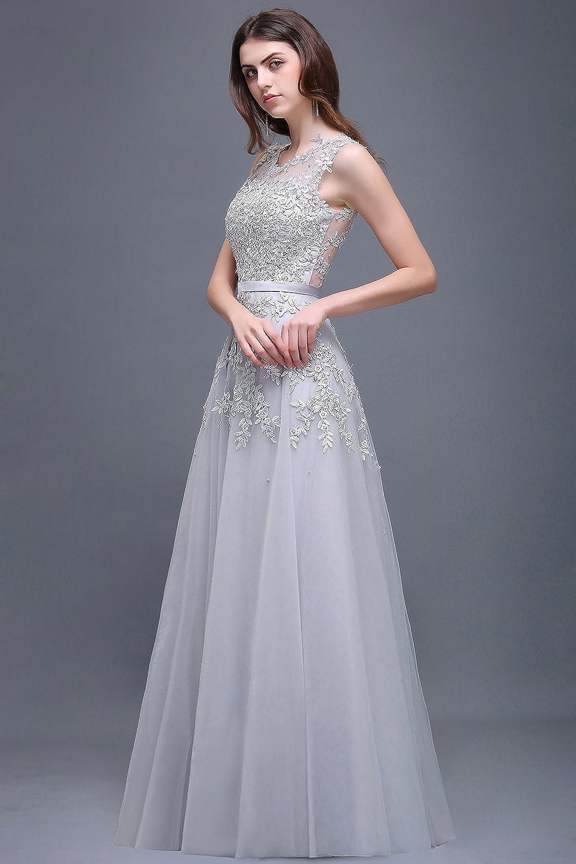 Babyonline Womens Lace A Line Formal Evening Dress for Women Long Prom Dress