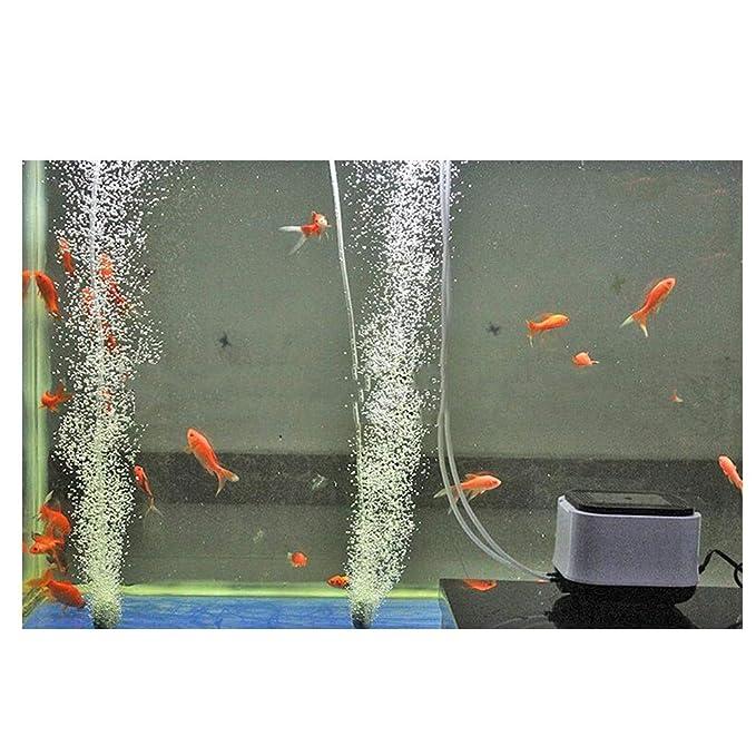 LIFUREN Bomba De Oxigeno Pecera Alto Voltaje Bomba De Oxígeno para Piscicultura Aireador Pequeño Hogar Bomba Silenciosa Super Oxigenación (Color : Blanco, ...