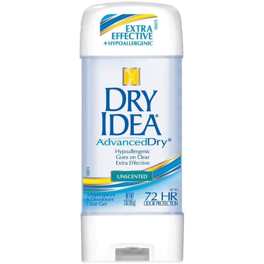 Dry Idea Advanced Dry Antiperspirant & Deodorant, Clear Gel, Unscented 3 Oz - (Value Pack of 3)