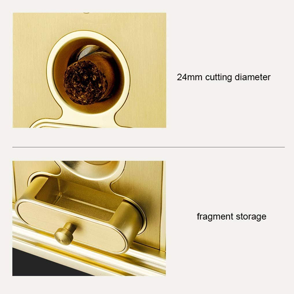 WMM- Cigar cutter Cigar Cutter Luxury Stainless Steel Table Top Cigar Guillotine Cigar Scissor for Most Size of Cigars (Color : Gold) by WMM- Cigar cutter (Image #2)