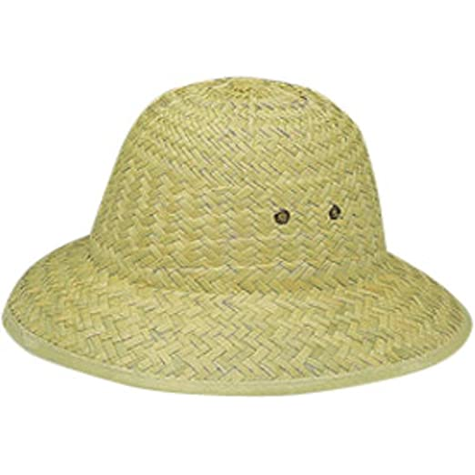 b2175161b0a79 Amazon.com: Jacobson Hat Company Safari Garden Pith Sun Hat Helmet Costume  Straw: Clothing