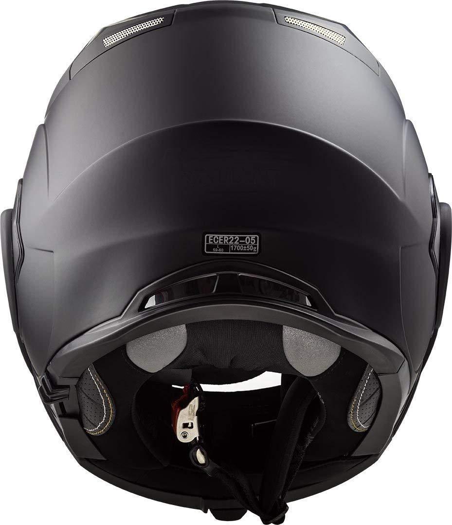 LS2 FF399 MOTORRADHELM VALIANT NOIR Motorrad Klapphelm Flip Up Konvertieren Motorroller Offener Touren Integralhelm Doppelte Sonnenblende XS Matt Schwarz 53-54cm