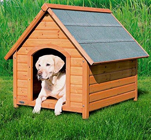 Pino resistente a la intemperie - Caseta de perro Gesto Roof - Buen Circulación de aire - fabricado con una de madera de pino: Amazon.es: Productos para ...