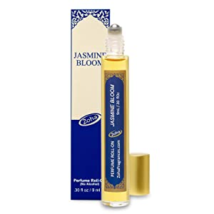 Jasmine Bloom Perfume Oil Roll-On (No Alcohol) - Essential Oils and Clean Beauty Perfumes for Women and Men by Zoha Fragrances, 9 ml / 0.30 fl Oz