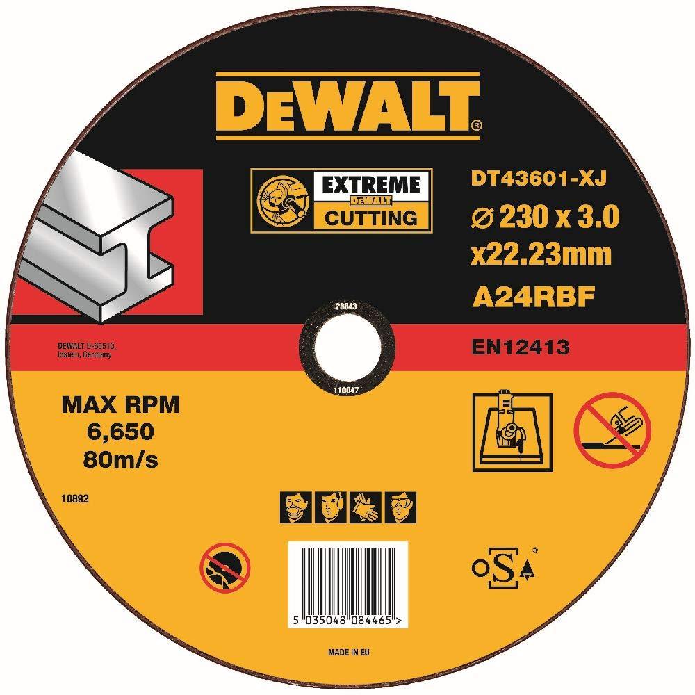 DeWalt DT43601-XJ Disque à Tronçonner, Marron, 230 x 3 mm