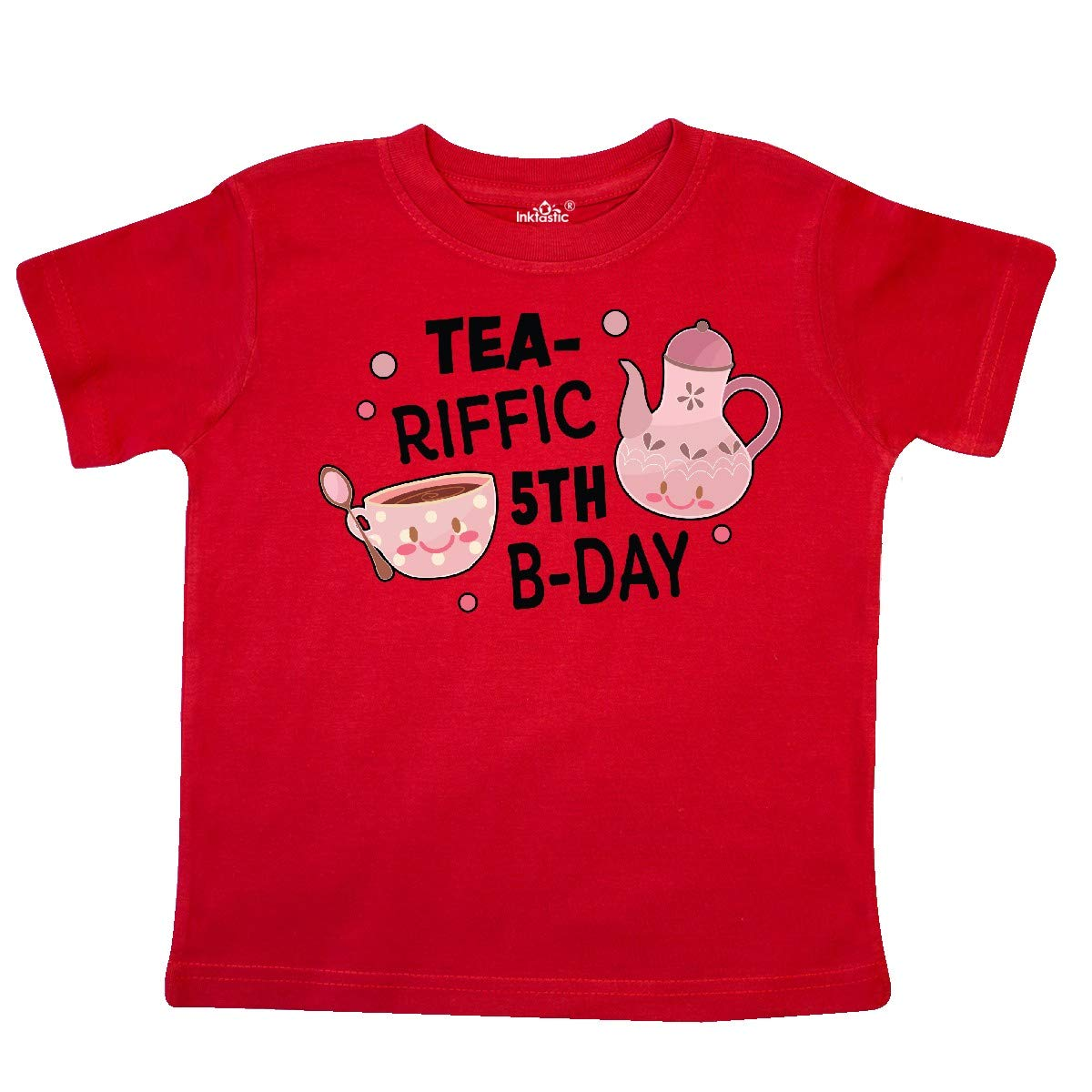 inktastic Tea-riffic 5th Birthday with Teacup and Pot Toddler T-Shirt