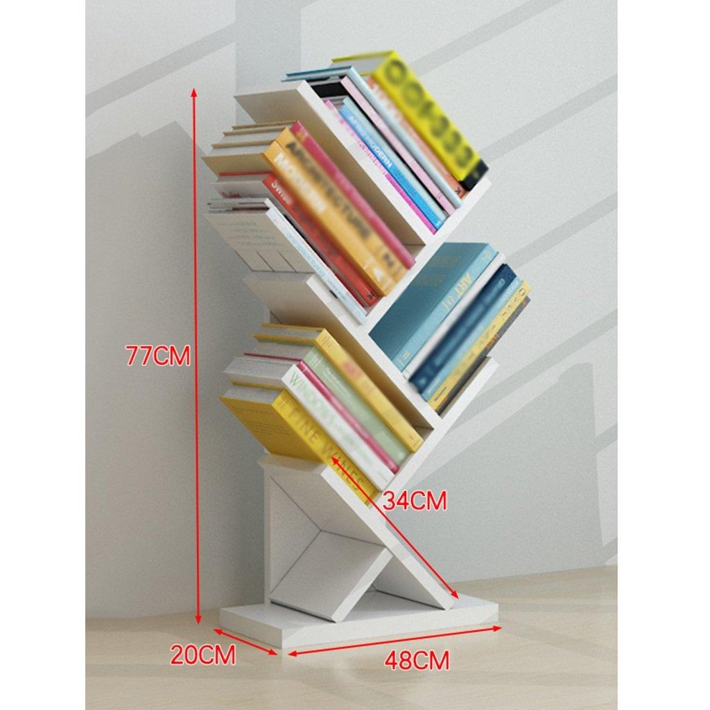 Amazon.de: SUBBYE Baum-Form-stehendes Bücherregal-modernes Einfaches ...