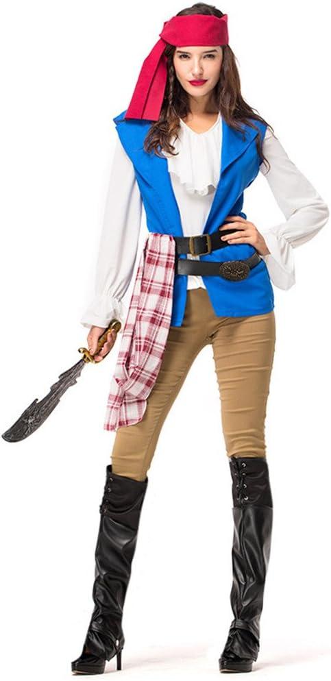 YiPinShangCheng Disfraz de Halloween, Disfraz de Pirata para Mujer y Adulto: Amazon.es: Productos para mascotas