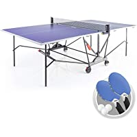Kettler Axos 2 Outdoor Table Tennis Table with Lockable Wheels and Accessories