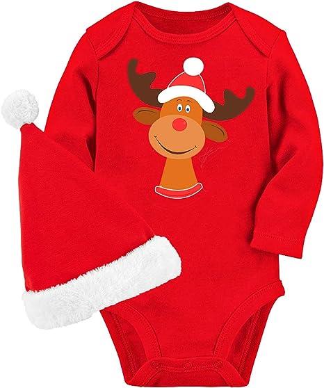 Christmas Xmas Baby Romper Bodysuit Clothes Dress Kids Costume 0-18 Months