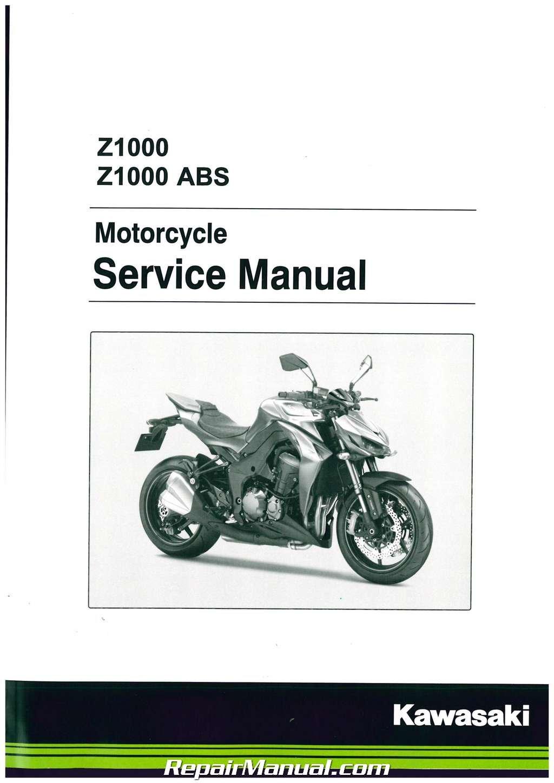 Kawasaki Z1000 Service Manual 2010 Hobbiesxstyle Wiring Diagram Enthusiast Diagrams