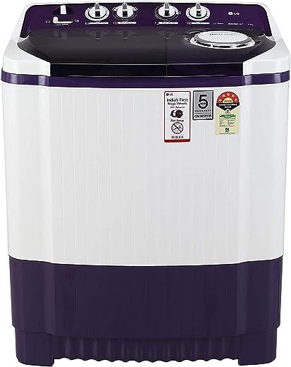 LG Semi-Automatic 8 Kg 5 Star Top Loading Washing Machine (Purple, Collar Scrubber)