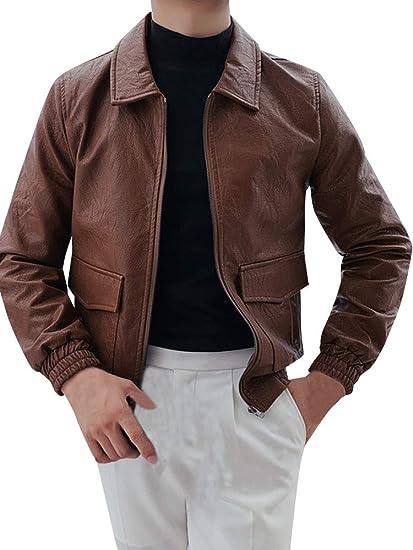 [ネルロッソ] 革ジャン ブルゾン メンズ puレザー ジャンパー スタジャン 大きいサイズ ミリタリージャケット ライダース 正規品 cme24488