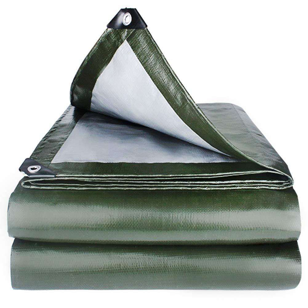 YANGJUN ターポリン 絶縁 耐寒性 防水 シェード 防風 耐摩耗性 日焼け止め 厚い アウトドア、 0.35 mm (色 : Green, サイズ さいず : 4.8x4.8m) 4.8x4.8m Green B07PLDDM7N