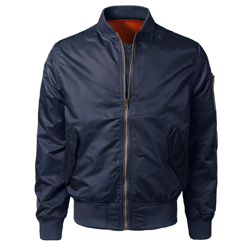 Sharemen Zipper Outwear Men's Casual Solid Autumn and Fall Jacket