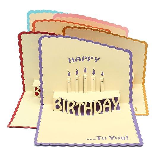 Feliz cumpleaños 3d tarjeta de felicitación Pop Up fiesta de ...