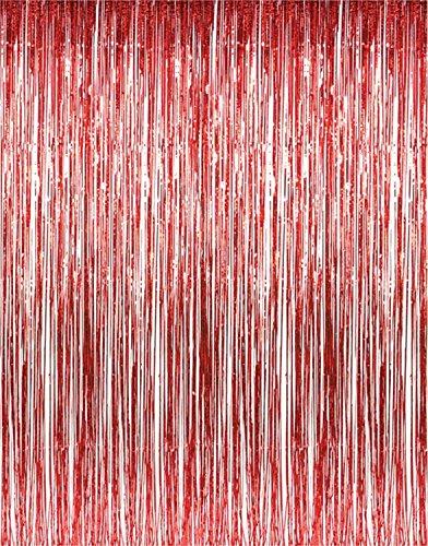 3 ft. X 8 ft. Metallic Red Foil
