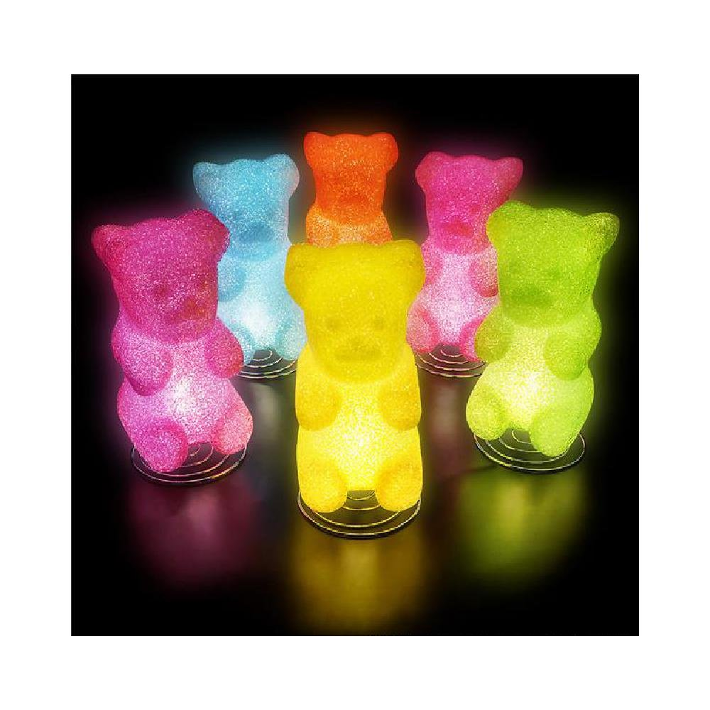 10'' Sparkle Gummy Bear Lamp (With Sticky Notes) by Bargain World