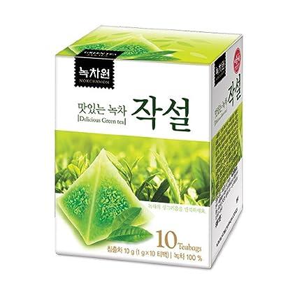 Nokchawon - Juego de 10 bolsas piramidales de té verde con ...