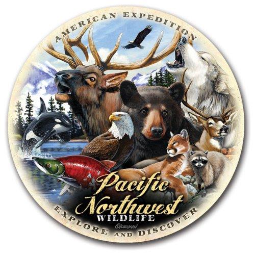 (Regional Collage Design Coaster Sets (Wildlife of the Pacific Northwest))