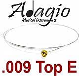 PACK OF 5 x 009 E ADAGIO Single Spare Electric Guitar Strings .009 Gauge 9